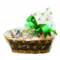 Holly Cello Basket Bags with Twist Ties Pk/6