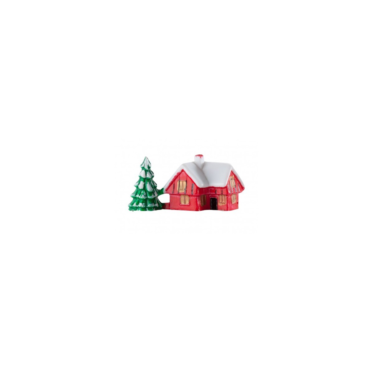 Buy Snowy House With Tree Christmas Cake Decoration Online
