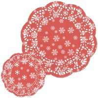 Red Snowflake Assorted Doyleys - 30pk