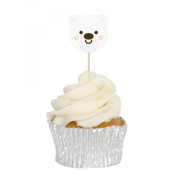Polar Bear Cupcake Toppers - 12pk