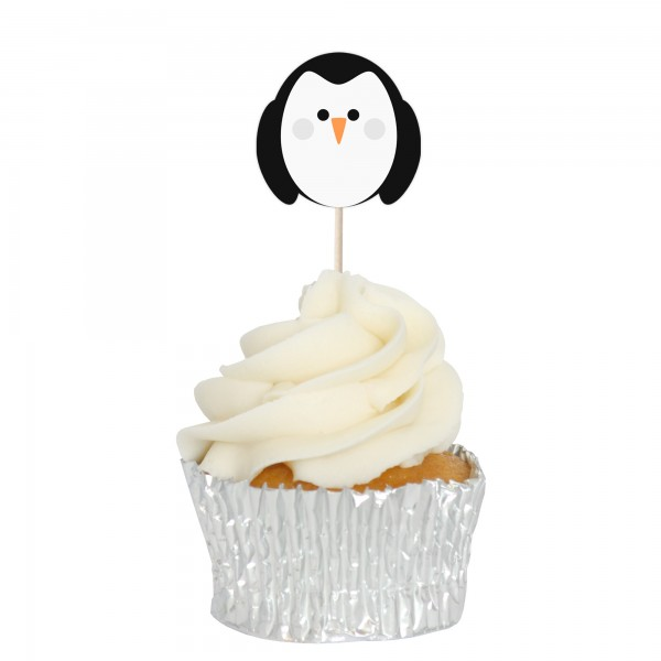 Penguin Cupcake Toppers - 12pk