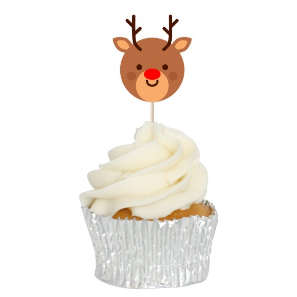 Rudolph Cupcake Toppers - 12pk
