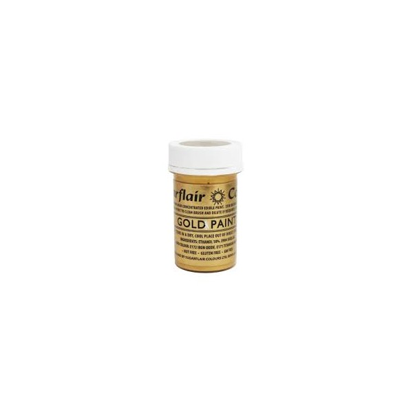 Sugarflair Colours Gold Edible Paint - 20g
