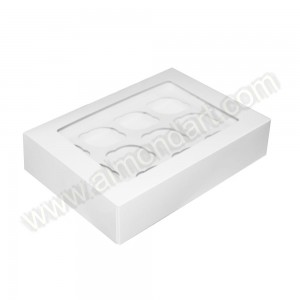 12 Cupcake/Muffin - Plain White Box