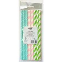 Assorted Design Paper Straws 25/pk