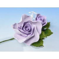 Lilac Open Rose Spray - med