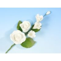 White Rose with Apple Blossom - med