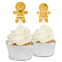 Gingerbread Cupcake Toppers - 12pk