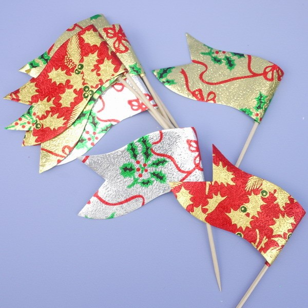 Christmas Sandwich Flags - 10pk