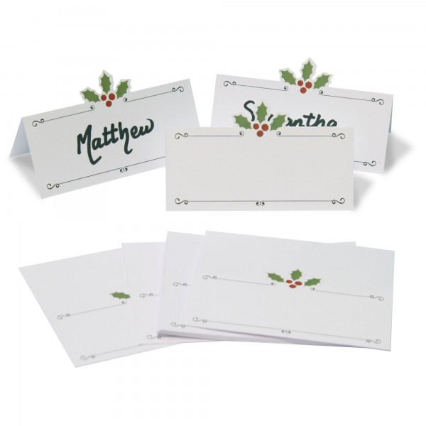 Holly Place Name Cards - 12pk