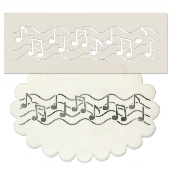 Music Notes Border Stencil