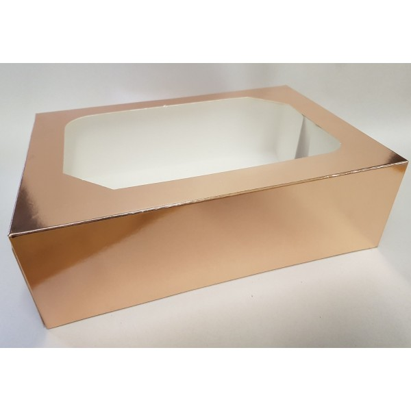 ROSE GOLD - 6 Piece CupCake Box with insert