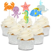 Under The Sea Cupcake Toppers - 12pk