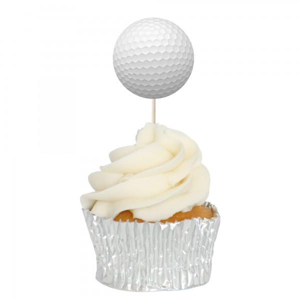 Golf Ball Cupcake Toppers - 12pk