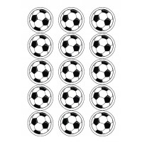 Football Icing Discs 15pce