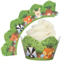 Woodland Cupcake Wrappers - 12Pk