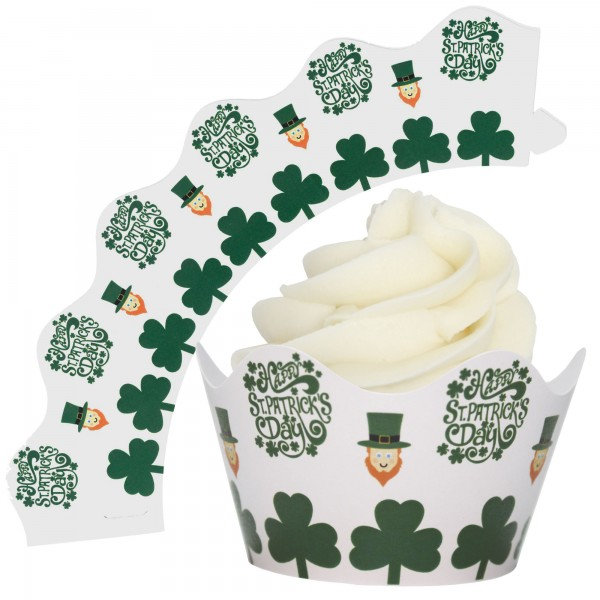 St Patricks Day Cupcake Wrappers - 12Pk