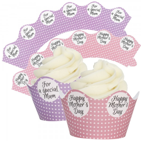 Mothering Sunday Cupcake Wrappers - 12Pk