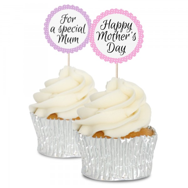 Mothering Sunday Cupcake Toppers - 12Pk