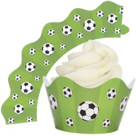 Football Cupcake Wrappers - 12Pk