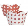Red & White Polka Dot Cupcake Wrappers - 12pk