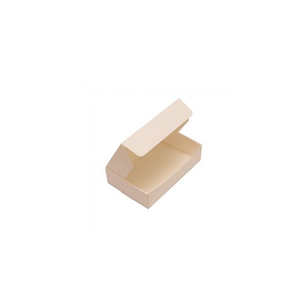 Cream / Ivory Plain Single Slice Cake Box