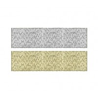 Silver & Gold Grace Ribbon 15mm - Metre