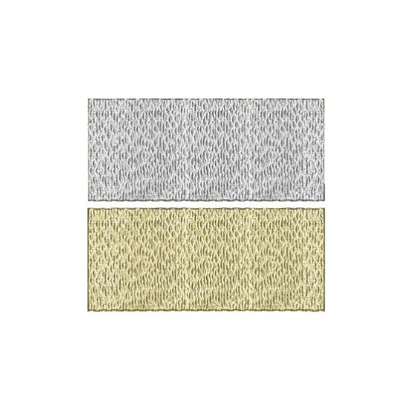 Silver & Gold Grace Ribbon - 25mm - Metre