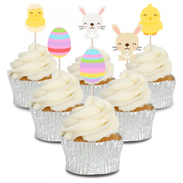 Easter Cupcake Toppers - 12pk