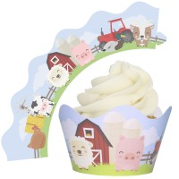Farmyard Cupcake Wrappers - 12Pk