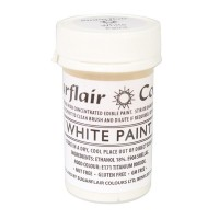 Sugarflair White Edible Paint - 20g