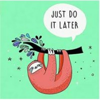 Sloth - Just Do It Later Napkins - 20pk