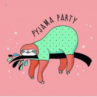 Sloth - Pyjama Party Napkins - 20pk