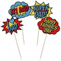 Fathers Day Comic Signs - 12pk