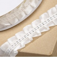 1 Metre - IVORY Pleated Edge Ribbon 25mm
