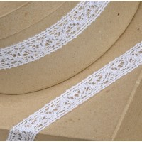 1 Metre - Cotton Lace White 25mm