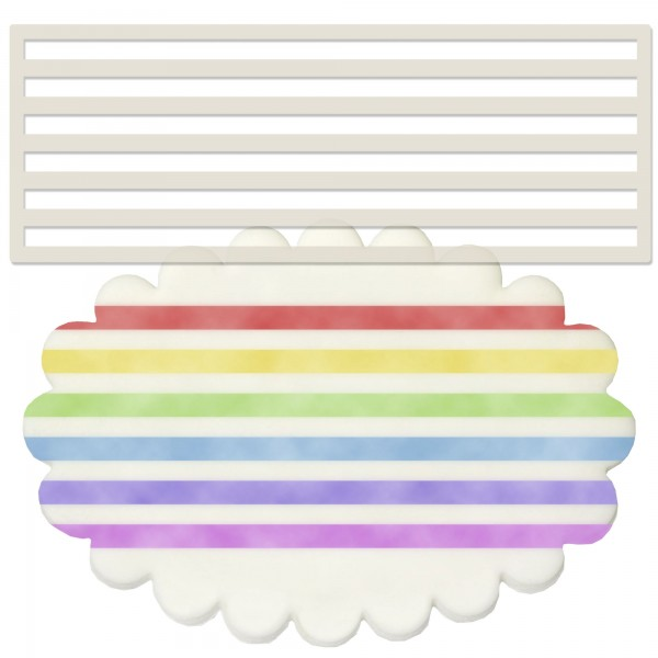 Horizontal Stripes Stencil
