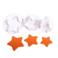 Large Star Plunger Cutters - 3pc