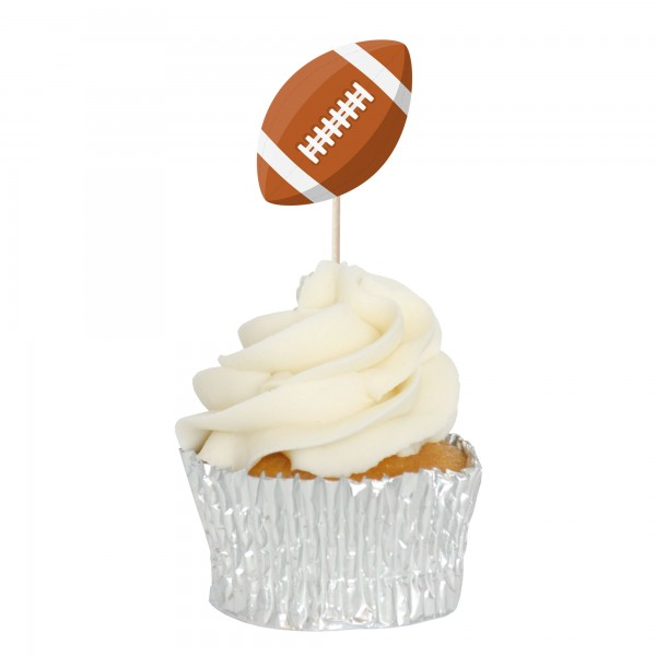 American Football Cupcake Toppers - 12pk