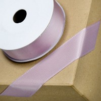 1 Metre - 25mm Grosgrain Ribbon - Mauve