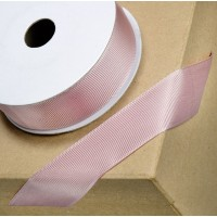 1 Metre - 25mm Grosgrain Ribbon - Taupe