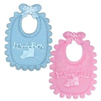 Baby Bib Fabric Cake Topper