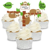 Sloth Cupcake Toppers - 12pk