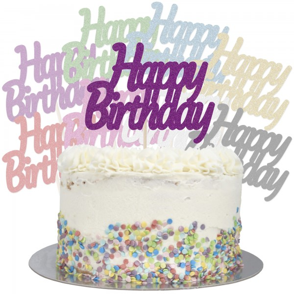 Buy Large Happy Birthday Cake Topper Online