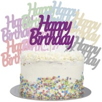 Large Happy Birthday Cake Topper