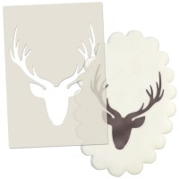 Stags Head Stencil