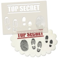 Spy/Secret Agent & Detective Set Stencil