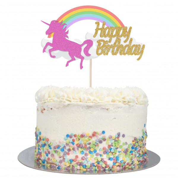 Magnificent Buy Large Unicorn Rainbow Happy Birthday Cake Topper Online Funny Birthday Cards Online Bapapcheapnameinfo
