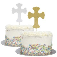 Large Cross Cake Topper