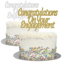 Congratulations On Your Engagement Cake Topper